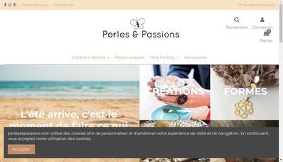 Site internet de Perles et Passions