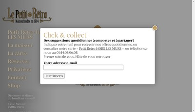 Site internet de Le Petit Retro