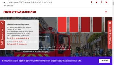 Site internet de PFI Protect France Incendie