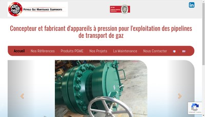 Site internet de Petrole Gaz Maintenance Equipements