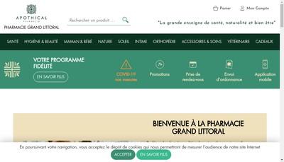 Site internet de Pharmacie Grand Littoral