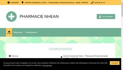 Site internet de Pharmacie Nhean
