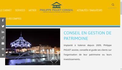 Site internet de Cabinet Philippe Piguet Conseil