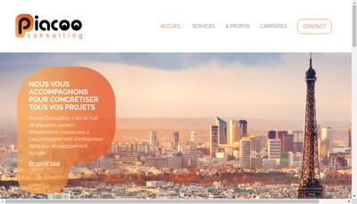 Site internet de Piacoo Consulting
