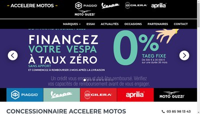 Site internet de Accelere Motos