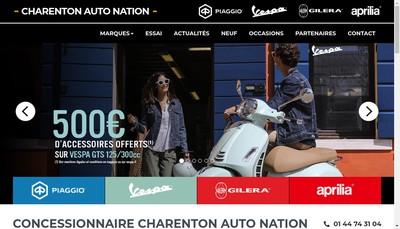 Site internet de Charenton Auto Nation