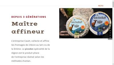 Site internet de Cavet Picodons