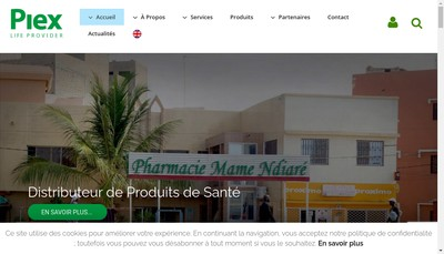 Site internet de Societe Pharmaceutique Import Export