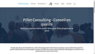 Site internet de Pillet Consulting
