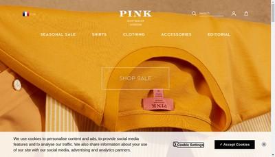 Site internet de Thomas Pink France