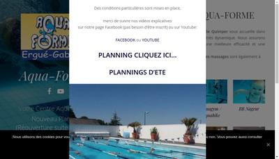 Site internet de Centre Aqua Forme