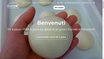 Site internet de Pizza Lab