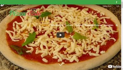Site internet de Pizza Sole SARL