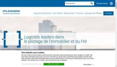 Site internet de Planon France
