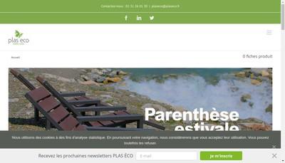 Site internet de SARL Plas-Eco