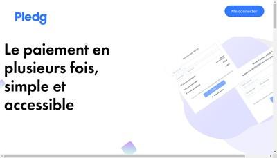 Site internet de Pledg