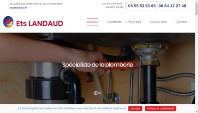 Site internet de Etablissements Landaud