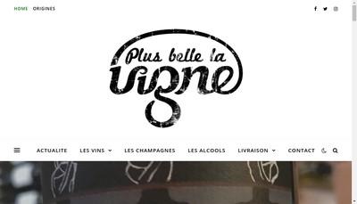 Site internet de Plus Belle la Vigne