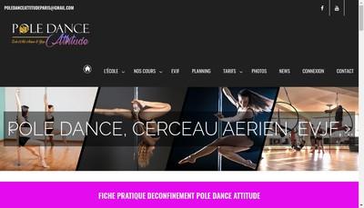Site internet de Pole Dance Attitude