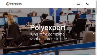 Site internet de Polyexpert Rhone Alpes Auvergne
