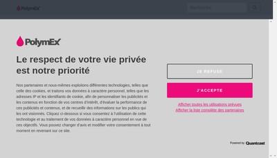 Site internet de Polymex