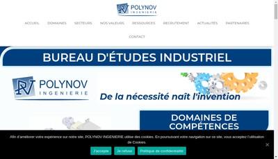 Site internet de Polynov Ingenieurie