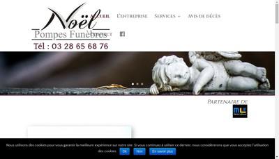Site internet de Pompes Funebres Noel