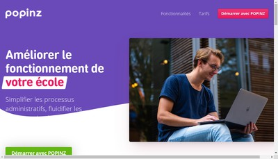 Site internet de Popinz