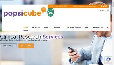 Site internet de Popsi Cube