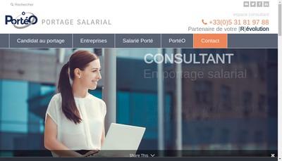 Site internet de Porteo