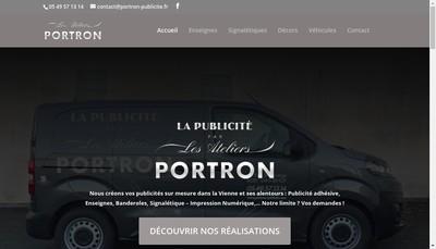 Site internet de Portron