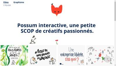 Site internet de Possum Interactive