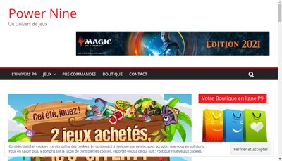 Site internet de Power Nine