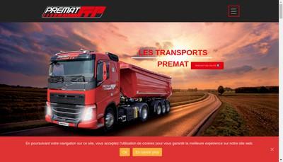 Site internet de Societe des Transports Premat