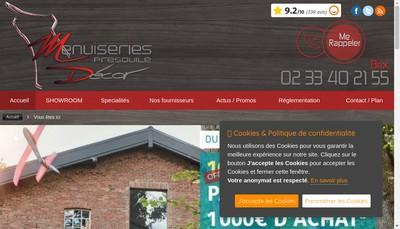 Site internet de Menuiseries Presqu'Ile Decor