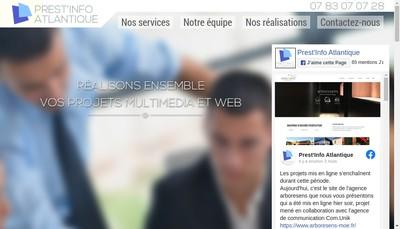 Site internet de Prest'Info Atlantique