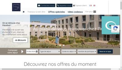 Site internet de Previthal