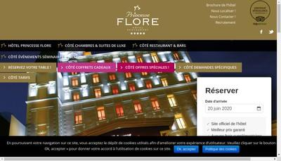 Site internet de Princesse Flore Hotel