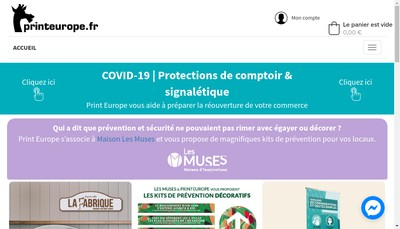 Site internet de Print Europe
