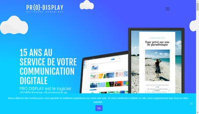 Site internet de Pro Display France Advert