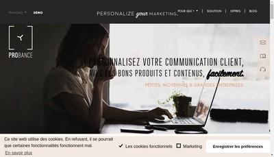 Site internet de Probance
