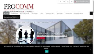 Site internet de Procomm