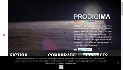 Site internet de Prodigima Films