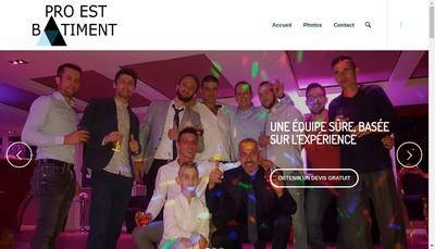 Site internet de Pro-Est Batiment