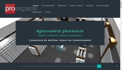 Site internet de Proexpace