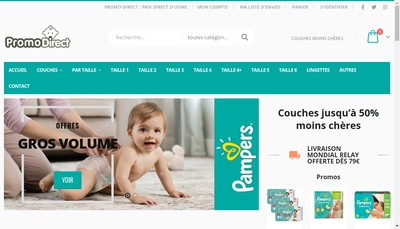 Site internet de Promodirect
