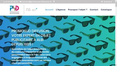 Site internet de Promosud Diffusion