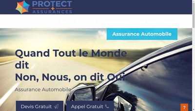 Site internet de Protect Plus Assurances