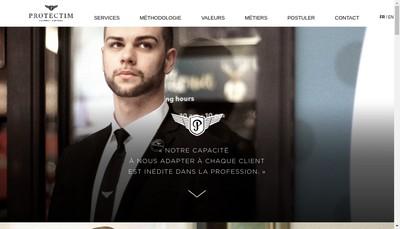 Site internet de Protectim Security Services SAS