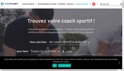 Site internet de Personal Sport Trainer